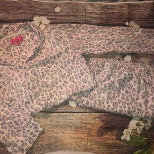 {VICTORIA'S SECRET} leopard pink gray pajama set